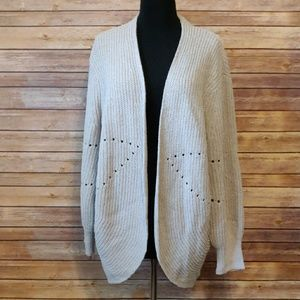 Women's Pointelle Chenille Cacoon Cardigan